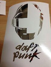 ADESIVI STICKERS DAFT PUNK CROMATO ALBUM DECAL - 18 X 10 CM