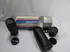 Vintage TOYO OPTICS 80-200mm F/4.5 Lense ROKINON 28-50mm F3.5 For PENTAX Lot