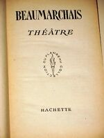 LIBRO - BEUMARCHAIS THEATRE HACHETTE 1950 FRANCAIS