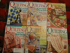 American Patchwork & Quilting Magazine ~ 6 of 6 issues from 2008