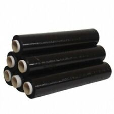 6 X Rodillo Fuerte Negro Paleta Stretch envoltorio paquete de embalaje se aferran película 400MM