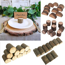 10pcs Wooden Table Name Place Card Holder Rustic Wedding Party Table Decor DIY
