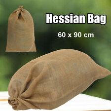 60x90cm Large Hessian Bag Jute Sack Sandbag Garden Produce Chaff Farm Storage