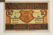 3 Stück Notgeld 50 Pfennig Scheine der Stadt Bad Sooden an der Werra in Hessen