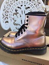Doc Martens Rose Gold Vegan 1460 8hole Uk4/37 Excellent Condition Ladies Boots