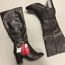 Dexflex Comfort Brown Tall Boot Block 2 3/4 Inch Heel NWT NEW Size 7