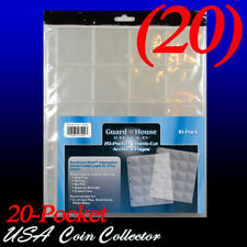 (20) Guardhouse Shiled 20 Pocket Archival Binder Pages - 2x2 Squares - Notebook