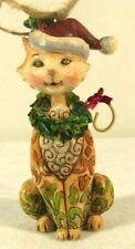 Jim Shore Christmas Cat Ornament 2008 Retired Heartwood Creek Collection Euc