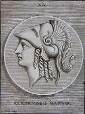 ALEXANDRE LE GRAND . PORTRAIT, GRAVE PAR PICART,  GRAVURE ORIGINALE DE 1731