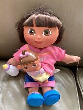 "DORA THE BABYSITTER 12"" Plush Doll Excellent Condition"