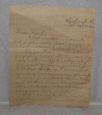 Oscar M Ruebhausen Washington VT Letter To Sick Classmate February 16 1923