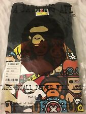 BAPE X ONE PIECE APE HEAD TEE BLACK -- SIZE S - IN HAND READY TO SHIP!