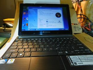 Gateway LT4010u Windows 7 Netbook 320gb 1gb Atom N2600