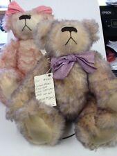 "Wonderful Pair Memory Makers 14""Handmade Bears, Stacy Stanley, Mohair #4 of 20"