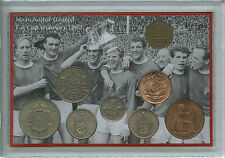 Manchester united man utd vintage f.a cup final gagnants pièce rétro ensemble cadeau 1963