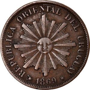 [#840603] Coin, Uruguay, Centesimo, 1869, Uruguay Mint, Paris, Berlin, Vienna