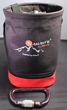 Big Chalk Bag-Pouch, Climb, Boulder with Tons of Chalk, Black and Red
