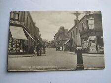 More details for shropshire oakengates 1919 busy street view by owen