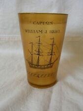 Antique Sailors Art Scrimshaw Beaker c1850