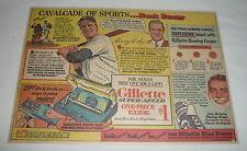 1954 Gillette Dessin Ad ~ Hank Bauer