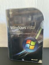 Microsoft Windows Vista Ultimate 32 and 64 Bit Full Retail Version 66R-022