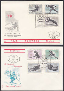 Austria FDC 1963 – Complete Set Michel 1136/42 Olympics First Day Cover