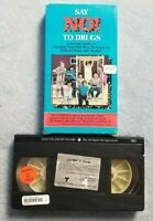 Say No! To Drugs (1986) - VHS Tape Movie - Educational - Alcohol- Kids / Parents
