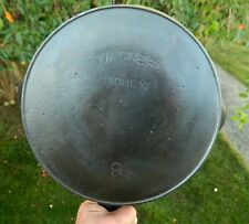 #9 Wagner cast iron skillet with arched logo and heat ring made in Sidney, Ohio