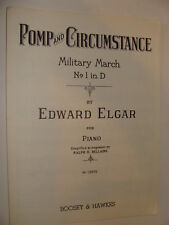 Pomp & Circumstance Military March No. 1 in D by Elgar 1929 simplified Bellairs