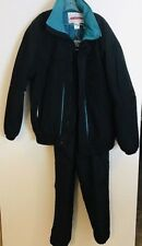 Obermeyer Sport Ski Snow Suit Jacket Pants Set Vintage Black Teal XL