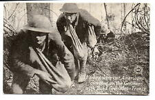 American Soldiers Creeping On The Germans with Bags Of Hand Grenades PC 1918