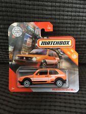MATCHBOX 2020 ORANGE MK1 VW GOLF GTI *NEW IN BLISTER* ON SHORT CARD