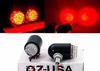Motorcycle tail brake light turn signal red LED black custom chrome cruiser atv