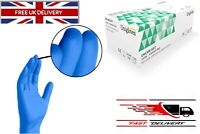 100 PCS UNIGLOVES S M L XL BLUE NITRILE POWDER FREE GLOVES 100% LATEX FREE