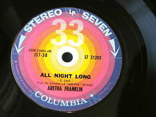 ARETHA FRANKLIN~COMPACT 33~RARE~ALL NIGHT LONG~SWEET LOVER~NM~~ SOUL 45