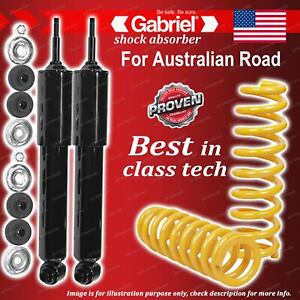 Front Gabriel Classic Shocks + STD King Coil Springs for Fiat 124 Sedan Coupe