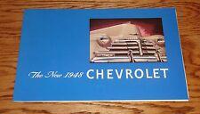 1948 Chevrolet Full Line Foldout Sales Brochure 48 Chevy Fleetline Stylemaster