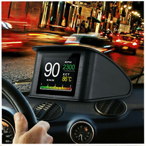 Smart OBD HUD Gauge Digital Car Speedometer RPM Water Temp Display Projector