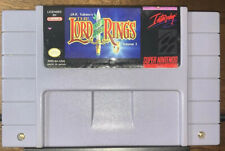 J.R.R. Tolkien's The Lord of the Rings (1994) Super Nintendo SNES Cleaned Tested