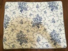 Laura Ashley Sophia Blue Floral Padded Standard Size Pillow Sham(1) Nice~