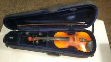 Vintage 1988 Rudolphe Kreutzer German Made 4/4 Violin Model 100 with Hard Case
