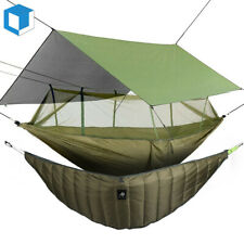 Camping Double Person Hammock Winter Under Quilt Blanket Rainfly Cover Tarp Fall
