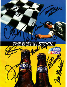 1990's NASCAR Busch Beer original hand signed autographed advert