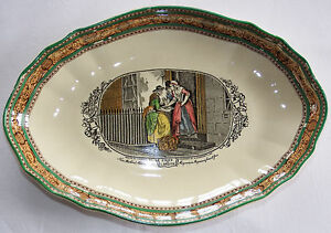 Antique W Adams Cries of London New Mackrel Oval Bowl Dish c1920