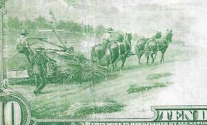 1914 $10 Federal Reserve Note San Francisco Fr. 951B VF