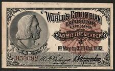 1893 Chicago World's Fair Collectibles