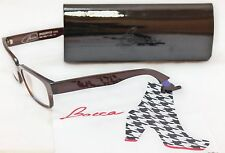 Authentic Face A Face Eyeglasses Bocca Smoking2 222 Chestnut Brown Plastic Italy