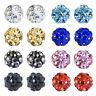 Rhinestones Crystal Ball stud earrings, Hypoallergenic