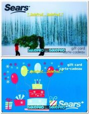 2x SEARS CARRYING CHRISTMAS TREE & CAKE CELEBRATION COLLECTIBLE GIFT CARD LOT