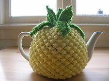 Pineapple Tea cosy to fit 4 to 6 cup teapot. Handmade Knitted Gift
